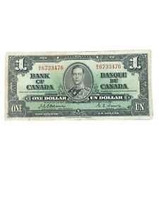 Canada Canadian Bank Of Canada $1 1937 Osborne Towers BC21A Nice Very Fine