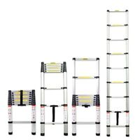 8.5FT Aluminum Multi-Purpose Telescopic Ladder Extension Loft Steps Tall EN131