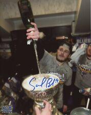 Sammy Blais St. Louis Blues Signed Stanley Cup Locker Room Celebration 8x10