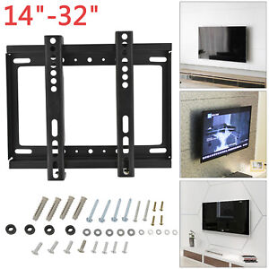 Tv Wall Bracket Mount Slim For 14 16 19 21 23 26 32 Inch Flat Lcd Led Plasma