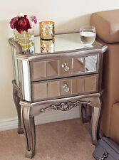 Antique French Style Mirrored Bedside Table Height 67cm