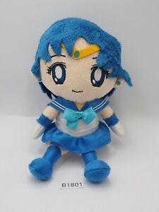 "Sailor Moon B1801 Legit Bandai MERCURY Plush 6"" Stuffed Toy Doll Japan Authentic"