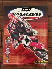 RACE PROGRAM YAMAHA VINTAGE MOTOCROSS SUPERCROSS MX DIRTBIKE Jeremy McGrath 2003