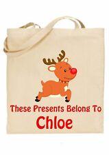 Bolsa De Navidad Para Niños Personalizado * (presenta pertenecen a) Rudolf ref 5