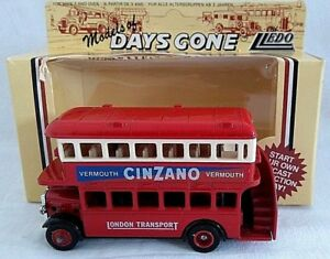 LLEDO DAYS GONE 1932 AEC REGENT DOUBLE DECK DIECAST BUS CINZANO VERMOUTH BOXED