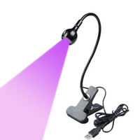 3W 395nm LED USB Glue Curing Ultraviolet Lamp UV Blacklight Gooseneck SW Light