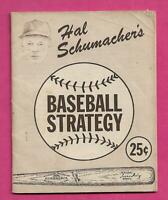 RARE 1949 YANKEES HAL SCHUMACHERS BASEBALL STRATEGY BOOK (INV# C0998)
