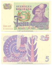 Sweden 5 Kronor 1981 P-51d Banknotes UNC