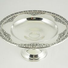 """Wallace STERLING SILVER """"Normandie"""" Footed Compote, — Signed, No 4773, Classic"""