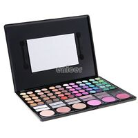 78 Colores Sombra De Ojos Paleta Set Kit Cosmético Maquillaje Espejo Caja Nuevo