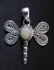 Opal and Siver Dragonfly Pendant