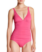 Tommy Bahama SwimSuit One-Piece OTS V-Front Shirred Halter Cup AU10 NEW Womens