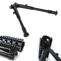 """Adjustable 8""""-10"""" Airsoft Bipod Spring Bipod Air Rifle Rail Mount For Hunt Shoot"""
