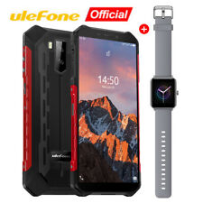 Rugged 4G Cell Phone Android 10 Waterproof Smartphone 5000mAh + Smartwatch Pro
