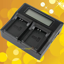 Fast Quick Dual Battery Charger for Canon LP-E12 LPE12 EOS M M2 M10 100D LC-E12E