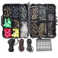 294Pcs Carp Fishing Tackle Kit With Safety Lead Clips Quick Change Swivel Sleeve