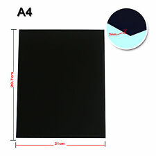 Black Acrylic Sheet Plexiglass Perspex 3mm Thick 210mm x 300mm A4 Size