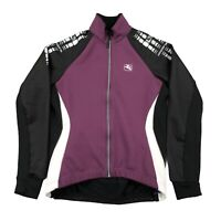 Giordana Wind Tex Cycling Jacket Jersey Purple Black Womens Size Large 12 Italy