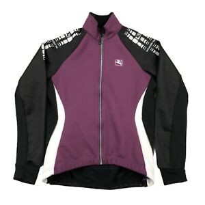 Giordana Wind Tex Cycling Jacket Jersey Purple Black Womens Size Large 12 Italy