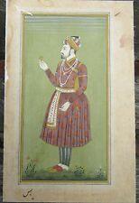 Antique gouache Indian Miniature Painting. au moins 19TH siècle