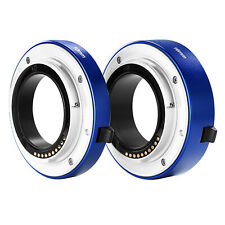 Neewer Blue Macro Extension Tube Set 10mm &16mm for Sony 5R A6000 A6300 A7 A7S