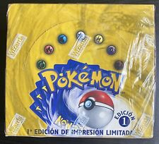 POKEMON 1ST EDITION BASE SET BOOSTER BOX NEW SEALED **SPANISH**