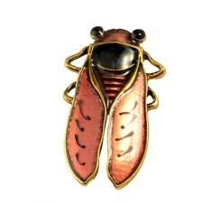 CG2329...ENAMELLED BEETLE BROOCH - FREE UK P&P