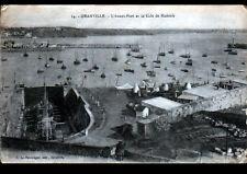 GRANVILLE (50) BATEAU en CHANTIER à la CALE de RADOUB en 1918