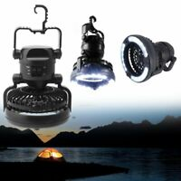 2 In 1 Camping Ceiling Fan Light Portable Hanging Flashlight 18LED Outdoor Lamp