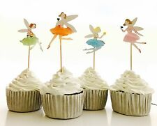 12 x Fairy Ballet Ballerina Dance CUPCAKE CAKE TOPPER Party Supplies Lolly Bag