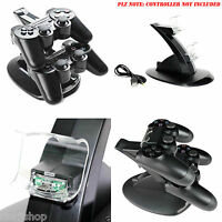 DUAL USB CHARGER DOCKING STATION CHARGING STAND FOR PLAYSTATION 4 PRO CONTROLLER