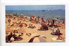 Greetings from Norwell MA Mass, Sunny day, beach, 1962, people, retro clothes