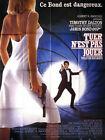 Affiche 120x160cm TUER N'EST PAS JOUER /THE LIVING DAYLIGHTS James Bond 007 TBE