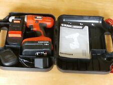 Black & Decker EPC188 Hammer Drill / Screwdriver  18V - 2 batteries