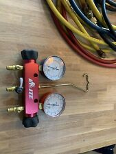 ITE 2 Valve Manifold Gauges Service HVAC/R Air Con Refill Evacuate And Pipes