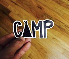 Camping Adventure Hike Sticker Vinyl 5x2  Surf Skate Snowboard Travel