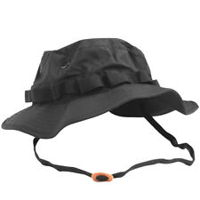 TEESAR US GI MILITARY PATROL BOONIE HAT TRILAMINATE WATERPROOF JUNGLE CAP  BLACK f3ed9690b924