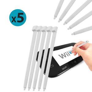 5 Pack Of White Stylus Pens For Nintendo Wii U