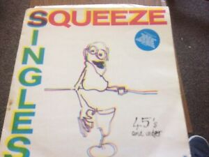 """SQUEEZE       """"SINGLES : 45's AND UNDER""""       VINYL LP RECORDS"""
