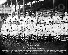 1908 CHICAGO CUBS WORLD SERIES CHAMPIONS 8X10 TEAM PHOTO #2