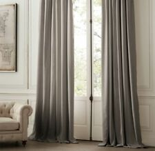 "RESTORATION HARDWARE PERENNIALS® VELVET DRAPERY - FOG 108"" X 50"" ROD POCKET"