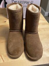 Bearpaw Emma Short Youth Boot Size 2 Hickory Tan New