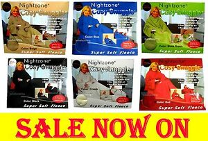 **Sale Now On** Warm Sleeved Fleece Snuggle Wrap Blanket, Snuggie With Pockets