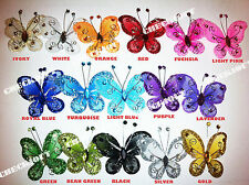 "20 PCS 2"" Organza Tulle Butterflies Craft Wedding Party Floral DIY Decoration"