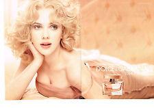 PUBLICITE ADVERTISING 2009 DOLCE & GABBANA  parfum SCARLETT JOHANSSON (2 pages)