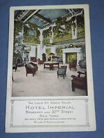 VINTAGE HOTEL IMPERIAL BROADWAY & 32ND ST   NEW YORK   POSTCARD