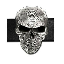 NEW Alchemy Gothic OMEGA SKULL 3D BELT BUCKLE Sign Del. B69