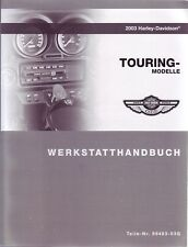 HARLEY-DAVIDSON Reparaturhandbuch 2003 Touring DEUTSCH 99483-03G Buch Anleitung