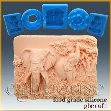 2D Silicone Soap/sugar/fondant/chocolate Mold – Enchanting Elephants