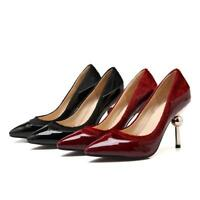 Womens New Pointy Toe Shoes Patent Leather Stiletto High Heels Pumps Prom Shoe